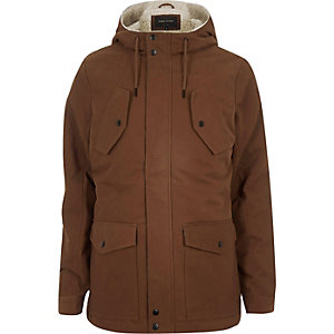 Rust brown borg-lined winter coat
