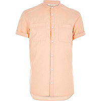 Orange grandad Oxford shirt