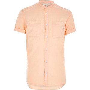 Orange grandad Oxford shirt