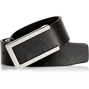 Black metal edge belt