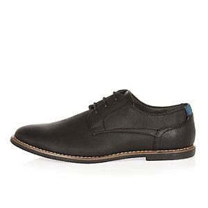 Black simple lace up shoes