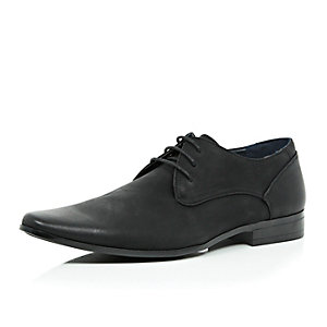 Black nubuck leather smart shoes