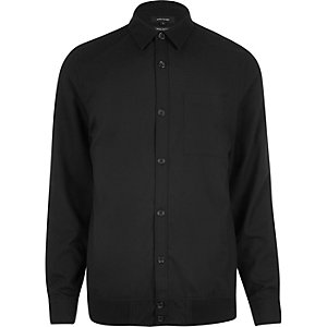 Black long sleeve overshirt