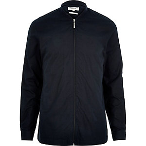 Navy zip through over shirt