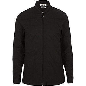 Black zip through overshirt
