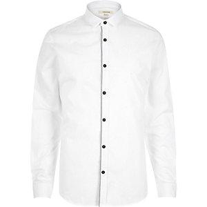 White grey tape long sleeve shirt