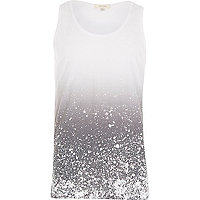 Grey paint splatter vest