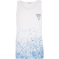 Blue West Coats paint splatter print vest