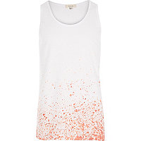 Red paint splatter vest