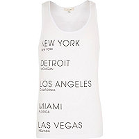White city names print vest