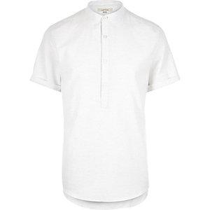 White melange overhead shirt