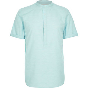 Light green melange overhead shirt