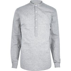 Grey melange overhead shirt