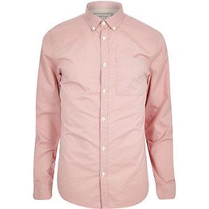 Pink twill shirt
