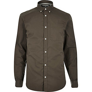 Khaki twill shirt