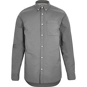 Grey twill shirt