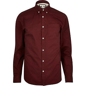 Dark red twill shirt