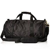 Black Mipac satin mesh duffle bag