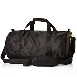 Black Mipac satin mesh duffle bag