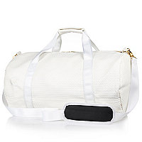 White Mipac satin mesh duffle bag