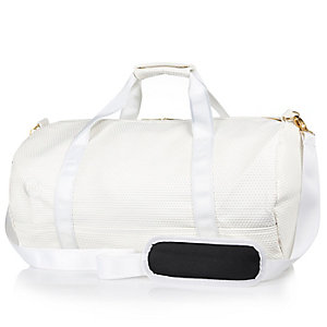 White Mipac satin mesh duffle bag