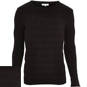 Black ribbed long sleeve jumper