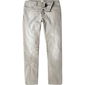 Worn grey Dylan slim jeans