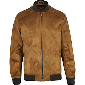 Brown faux-suede jacket