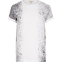 White side paint splatter t-shirt