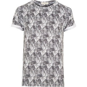 White scribble texture t-shirt