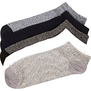Mixed marl trainer socks pack