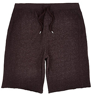 Dark red jogger shorts