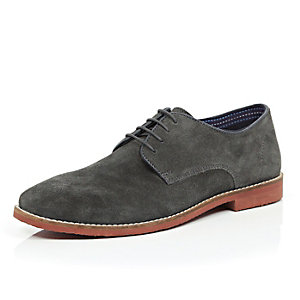 Dark grey suede formal shoes