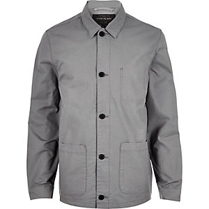 Grey utility worker jacket