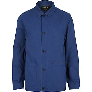 Blue utility worker jacket