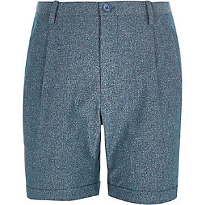 Navy printed Only & Sons tailored shorts