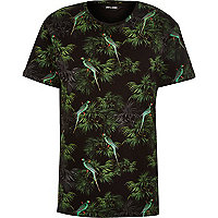 Black Only & Sons Hawaiian print t-shirt