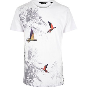White Only & Sons bird print t-shirt