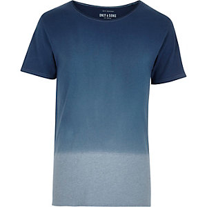 Grey Only & Sons faded dip dye t-shirt