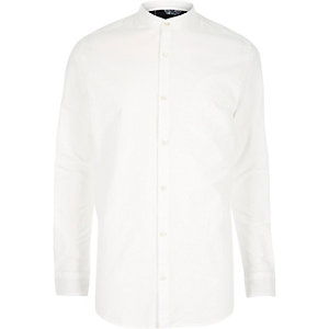 White Only & Sons grandad collar shirt