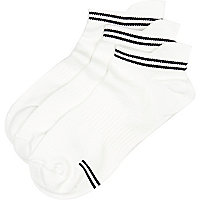 White sports trainer socks pack