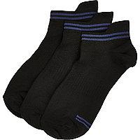 Black sports trainer socks pack
