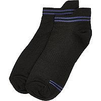 Black sports trainer socks