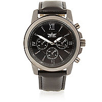 Black Roman numerals watch