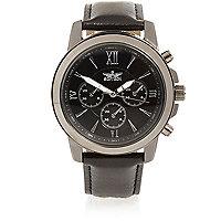 Black Roman numerals watch