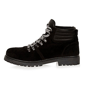 Black Christopher Shannon leather hiker boots