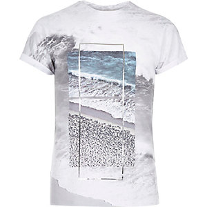 White nothing changes foil print t-shirt