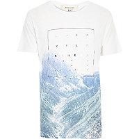 White epic wilderness foil print t-shirt