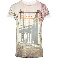 Pink Brooklyn photo print t-shirt