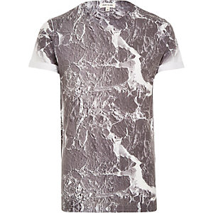 Grey marble print t-shirt